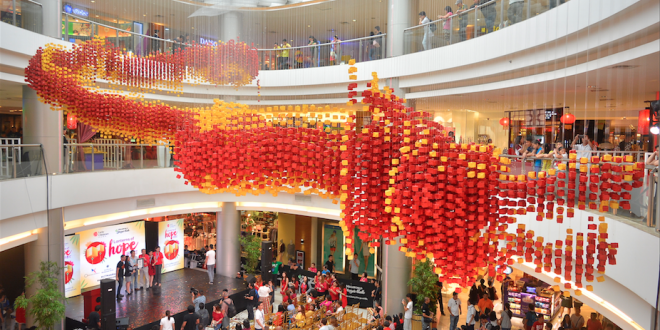 World's Largest Display Of Origami Lanterns