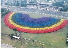 Largest Human Rainbow